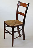 Small rush seat dining chair